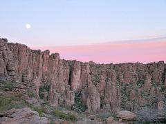 Rock Climbing Photo: Moonrise over LDE