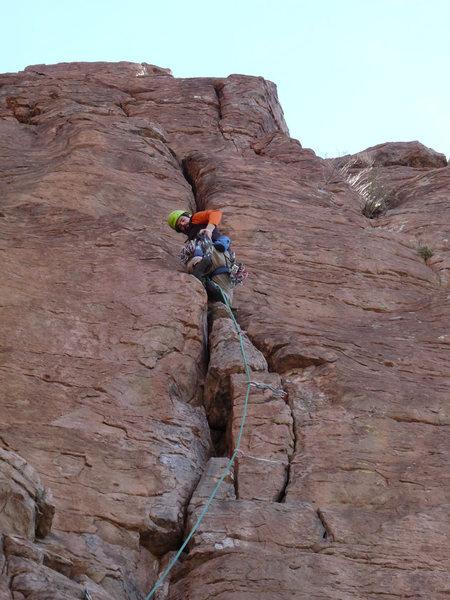Rock Climbing Photo: Chawn Harlow leading El Throatchoker Grande