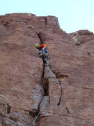 Rock Climbing Photo: Chawn Harlow leading El Throatchoker Grande