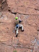 Rock Climbing Photo: Chawn making the clip (Faith, Hope & Jeep)