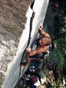 Rock Climbing Photo: Drew B just past the crux