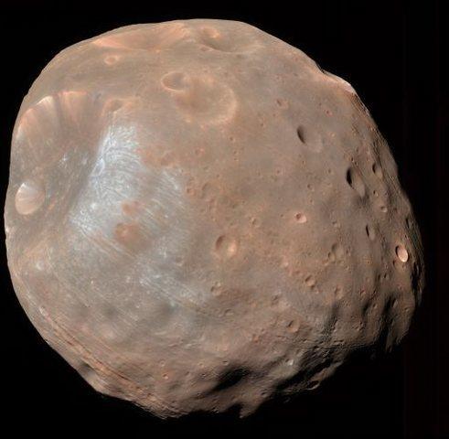 Phobos - Moon of Mars taken by MRO. (c) JPL