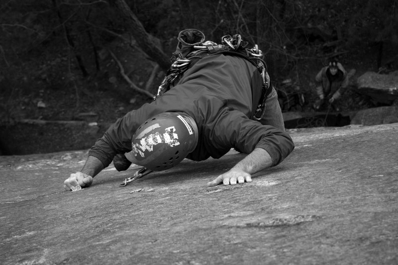 Rock Climbing Photo: pull'in