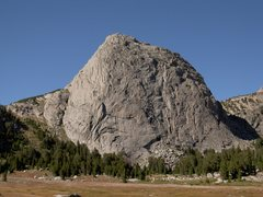 Rock Climbing Photo: One route on the southwest face wanders up corners...