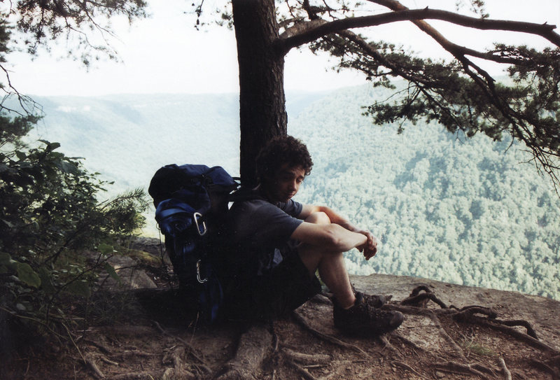 Rock Climbing Photo: Above Fantasy, Endless Wall, New River Gorge, West...