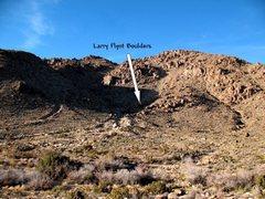 Rock Climbing Photo: Looking up towards the Larry Flynt Boulders, Joshu...