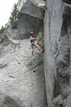 Rock Climbing Photo: Cleaning a problem.