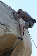 Rock Climbing Photo: Nathan Fitzhugh just getting thru the crux.