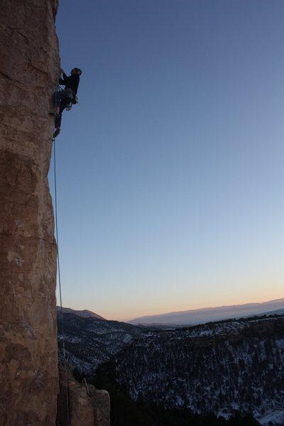 Rock Climbing Photo: Illegal Smile.
