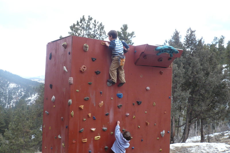 Rock Climbing Photo: Lydia is always following her big brother.