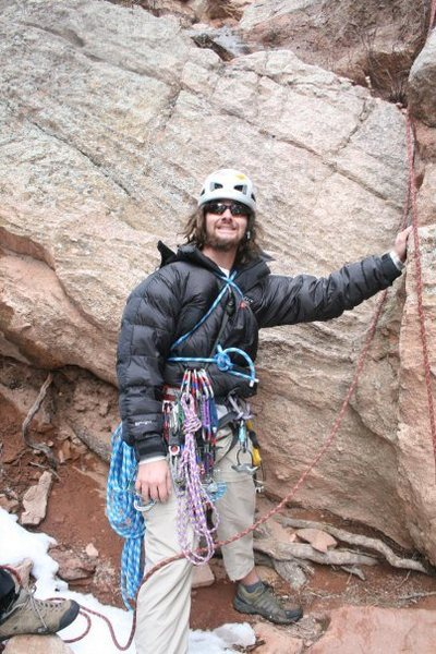 Rock Climbing Photo: Hanging out after climbing a route in Eldo on a co...