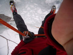 Rock Climbing Photo: New warm boots.  Vail Colorado.  2-27-10.