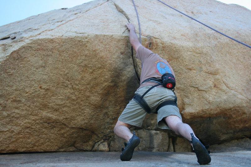 Nathan on the Haney Wall and Overhang. 2-28-10