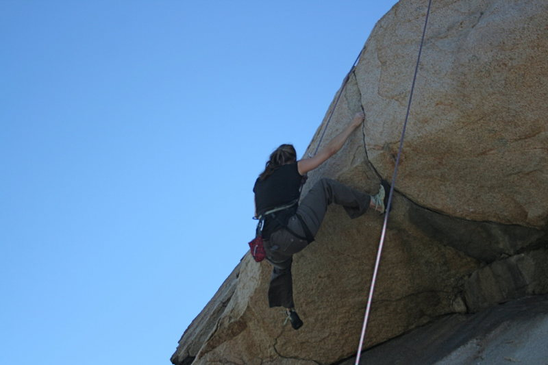 Rock Climbing Photo: Noelle on the Haney Wall and Overhang. 2-28-10