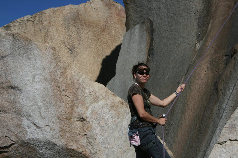 Rock Climbing Photo: Agina on belay keeping all of her eyes open. 2-28-...