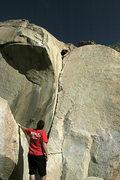 Rock Climbing Photo: Shayne (aka Travis Pastrami) on the Jam Crack. 2-2...