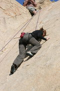 Rock Climbing Photo: Noelle, Smooth Sole Direct. Thin edging, friction ...