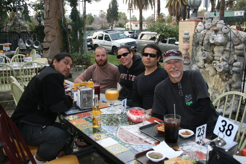 Team Pinto dining after a great day of climbing 2-28-10