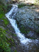 Rock Climbing Photo: Water cascading down the normally dry descent gull...