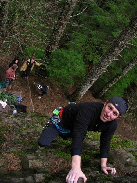 Ryan about to conquer the route