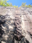 Rock Climbing Photo: The left of the two cracks.