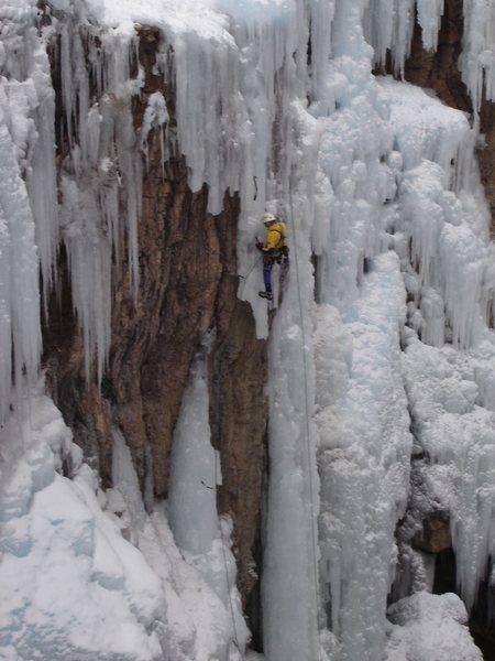 Rock Climbing Photo: Jacek OS on R of Super Dave; Dec., 2004.