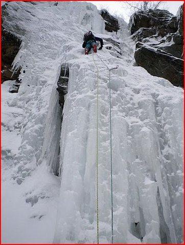 Rock Climbing Photo: Me climbing Gully #1