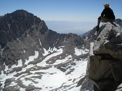 Rock Climbing Photo: Summit of Tyndall with Williamson in background.