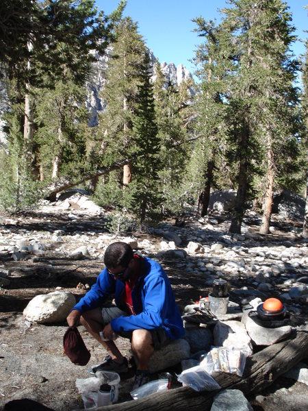 Anvil Camp (aka Advil Camp) on Shepherd Pass trail.