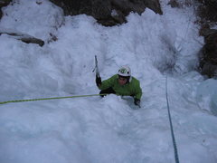 Rock Climbing Photo: Chris at the start of the steep stuff in the middl...