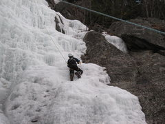 Rock Climbing Photo: My son on the easy right hand side of the flow bel...