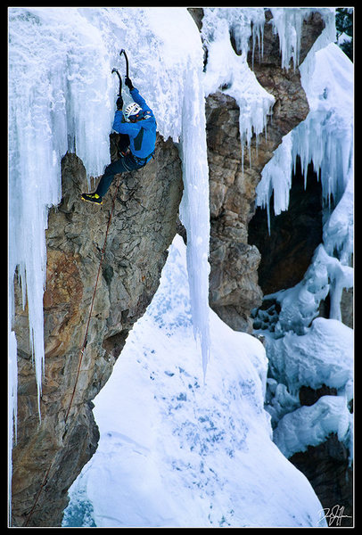 Rock Climbing Photo: Unknown climber on Mighty Aphrodite. This was take...