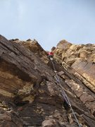 Rock Climbing Photo: Pitch 3 - the route can either go left or right th...