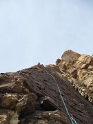 Rock Climbing Photo: Upper part of pitch 3 - very nice.