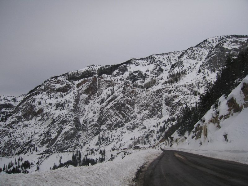 Rock Climbing Photo: Engineer Pass, US Hwy 550, Feb., 2008.