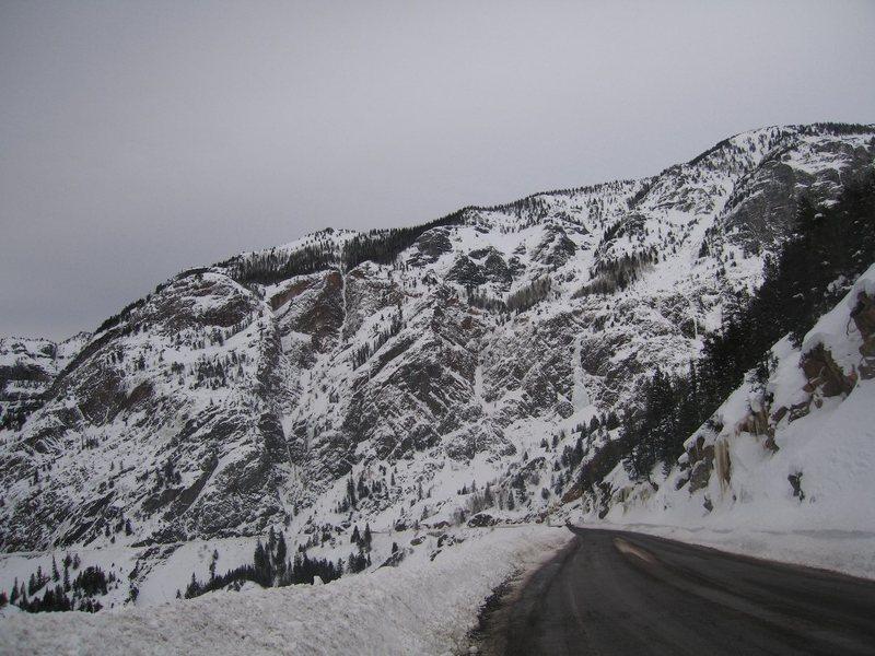 Engineer Pass, US Hwy 550, Feb., 2008.