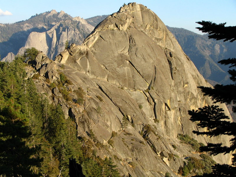 the west face of Moro Rock. <br> Sequoia NP CA.
