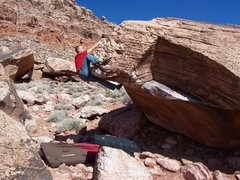 Rock Climbing Photo: Topping out on Odyssey