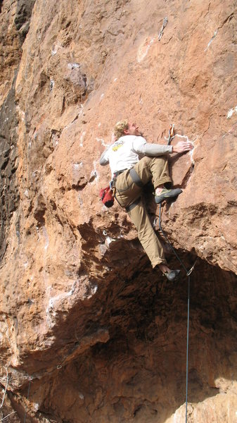 Rock Climbing Photo: Setting up for the thin crimp crux.  The next hold...
