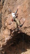 Rock Climbing Photo: This is probably the hardest actual move on the cl...