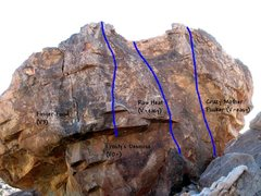 Rock Climbing Photo: Photo/topo for The Habanero (East Face), Joshua Tr...