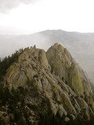 Rock Climbing Photo: The Needles, in rain.