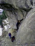 Rock Climbing Photo: Jason on the FA.