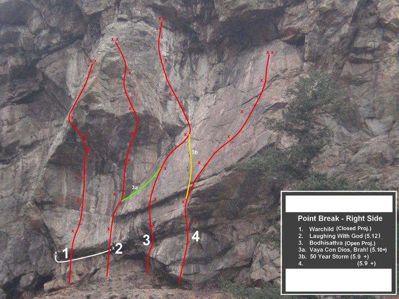 Rock Climbing Photo: 50 Year Storm is #3b.