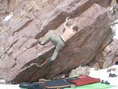 Rock Climbing Photo: this is one move below my highpoint