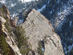 Rock Climbing Photo: Unknown climbers on the arete of Tower One.