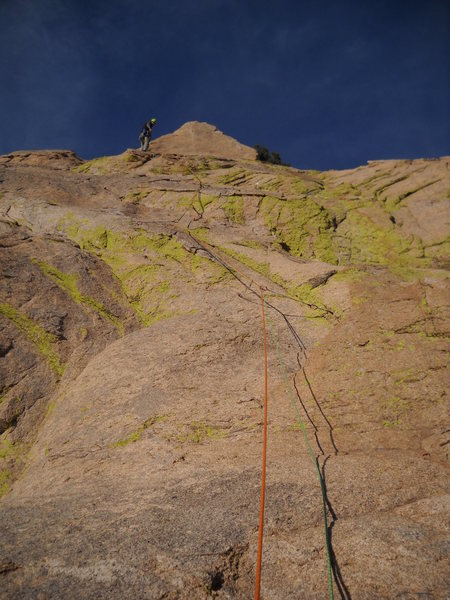 Rock Climbing Photo: Chawn Harlow on pitch 4