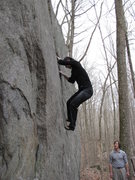 Rock Climbing Photo:  Sending the super classic thin crack problem