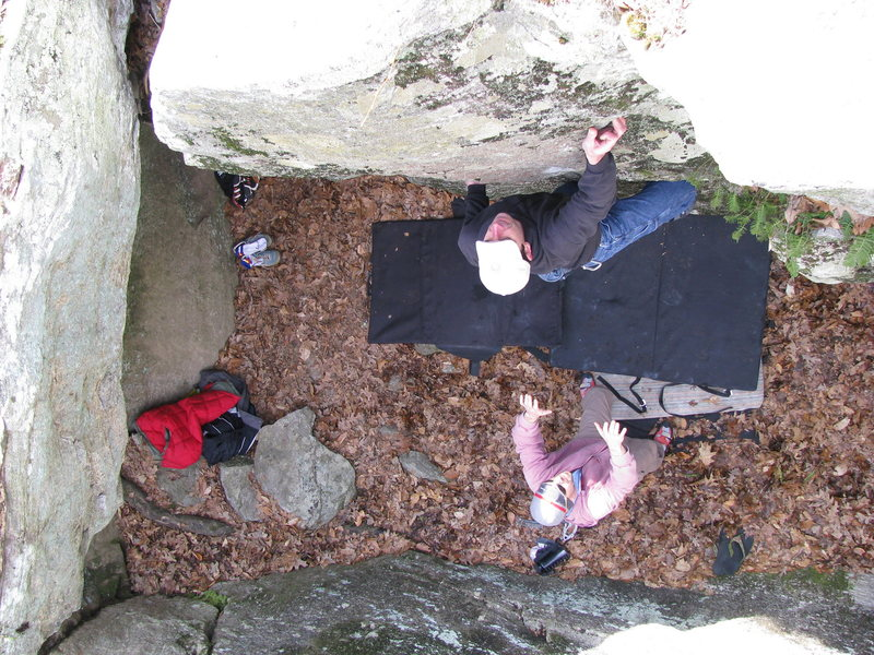 Rock Climbing Photo: Getting after it in the slot