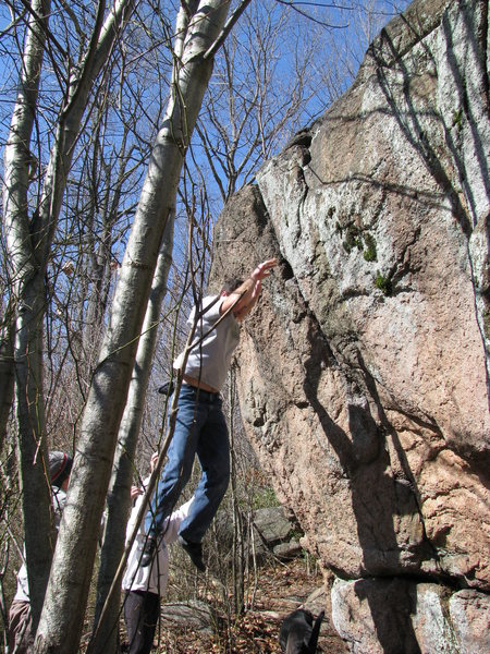 Rock Climbing Photo: testing the landing!